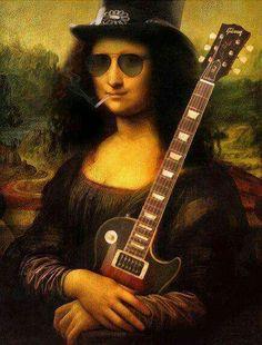 Monalisa for Destruction [Will Knack] (Gioconda / Mona Lisa) Rock And Roll, Mona Lisa Parody, Rock Posters, Italian Artist, Art Plastique, Photomontage, Rock Art, Hard Rock, Rock Bands