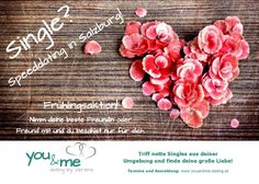 Unser Flyer von youandme-dating.at Salzburg, Band, Dating, Tips, Quotes, Ribbon, Bands, Relationships