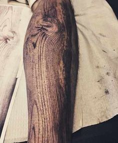 Wood Effect Tattoo - Tattoo Shortlist