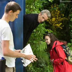 """""""I'm a Time Lord not a childminder!"""" It's Peter with Abigail Eames #BehindTheScenes of In the Forest of the Night!  #DoctorWho #DrWho #whovian #fandom #BTS by bbcdoctorwho May 23 2016 at 11:47PM"""