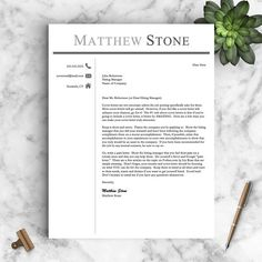 Professional Resume Template for Word & Pages  One Two and