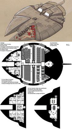 Dark Nova: Antares Deckplans by Breandan-OCiarrai