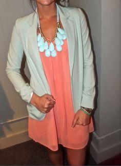 Turquoise Blazer. Shoptherage.com $60. Want!