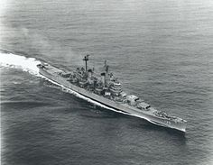 USS LOS ANGELES (CA-135); commissioned in July, 1945, and her construction was entirely funded through sales of bonds purchased by Los Angeles residents.