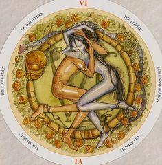 VI. The Lovers - Circle of Life Tarot by Maria Distefano