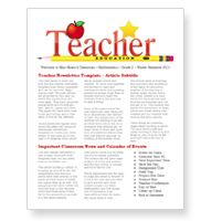 worddrawcom school newsletter template for microsoft word back to school newsletter teacher