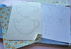 Perfect template for tea cup invites. Print, cut, attach. Done.
