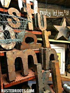 Rusty Letters for Sale Starting January 2015 #RustedRoots