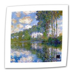 """ArtWall Trees by Claude Monet Print of Painting on Rolled Canvas Size: 14"""" H x 18"""" W"""
