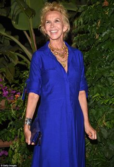 Fancy that: British star Trudie Styler also made an appearance at the exclusive affair in Italy on Friday