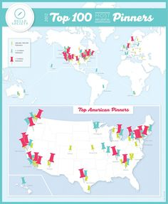 The Top 100 Most Influential Pinners #infographics