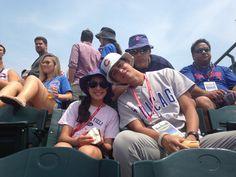 Gracie Lee, B-rock(Lil Kamuela) Rich (Big K) and Kaleo Lee at Cubs game 7-3-2015