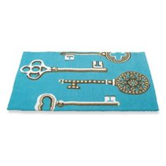 Vintage Key Mat....this might be the inspiration colour for our front door!  Like it.