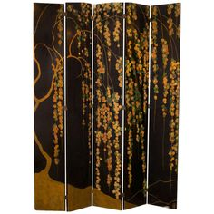 Michel Dufet Sculpted Lacquer Screen 1922 | From a unique collection of antique and modern screens at http://www.1stdibs.com/furniture/more-furniture-collectibles/screens/