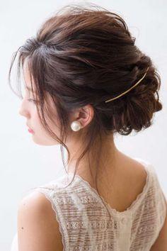 結婚式お呼ばれ髪型画像&2017年最新版おすすめヘアーアレンジ!自分でできる簡単髪型をロング・ミディアム・ボブ・ショートなど長さ別、編み込み、ハーフアップなどアレンジ別で紹介♪結婚式髪型マナーも合わせてご紹介します。