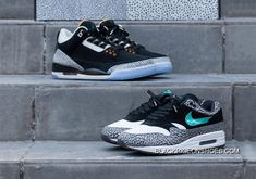 official photos 77f83 a4ea3 Air Jordan 3 X Nike Air Max  Atmos  Pack Super Deals. Black Pigeon Shoes