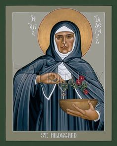 "St. Hildegard of Bingen | Catholic Christian Religious Art - Icon by Br. Robert Lentz, OFM - From your Trinity Stores crew, ""St. Hildegard please pray for us!"""