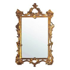 19th Century Italian Gilt Wood Wall Mirror | From a unique collection of antique and modern wall mirrors at http://www.1stdibs.com/furniture/mirrors/wall-mirrors/