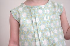 Pleated top for little girl