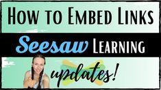 Seesaw App, Daily 5 Activities, Google Classroom, Classroom Ideas, Add Link, Teaching Technology, Second Grade, Preschool, Teacher