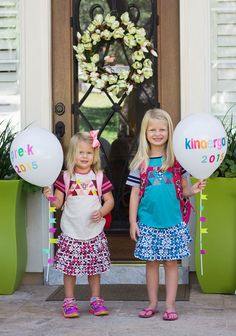 Make a special balloon for your child's first day of school photo!