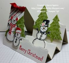 Stampin' By The Bay: Snow Place Side Step Card