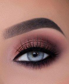 Prom Eye Makeup, Soft Eye Makeup, Wedding Eye Makeup, Homecoming Makeup, Wedding Makeup Looks, Eye Makeup Art, Simple Eye Makeup, Pink Makeup, Blue Eye Makeup