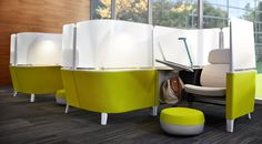 Brody by Steelcase - an award-winning work lounge. Creates private workspace that is defined, but not closed-off. Mute visual and audible distractions, enjoy exceptional ergonomic support, and adjust each component to suit your unique needs.