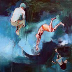 "Saatchi Online Artist: Charlotte Evans; Oil, 2012, Painting ""The Big Leap"""