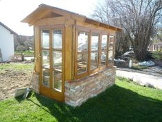 Sprossenholzfenster wenn gewünscht auch mit Fensterladen für z.B. Garten oder Gewächshaus (siehe...,Gartenhaus, Gewächshaus mit Holzfenster in Bayern - Bockhorn