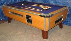 VALLEY COUGAR COMMERCIAL BAR SIZE 7' COIN-OP POOL TABLE MODEL ZD-7 IN PURPLE