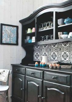 buffet double corps vaisselier relook st germain d co bistrot r tro relooking cm homedeco. Black Bedroom Furniture Sets. Home Design Ideas