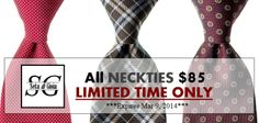 For a limited time only, all our #ties are now $85! Don't miss your chance to own our #limited edition #handmade #luxury #Italian #neckties. Shop now at www.LuxuryItalianNeckties.com. #MensFashion #MensStyle