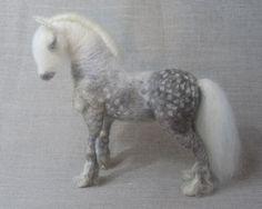 Needle felted horse dapple gray pony original one of by Ainigmati, $350.00