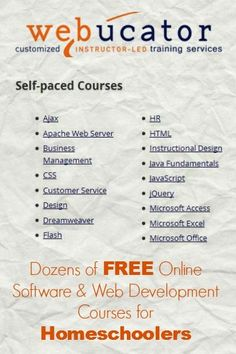 Free Online Courses for Homeschoolers for Software and Web Development | The Happy Housewife #onlinecourse
