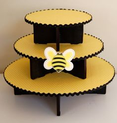 I love this! Super cute!  Bumble Bee Cupcake Stand for Birthday or Mother to by NuLuDesigns, $35.95