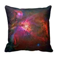 Cuddle up with the stars! A gorgeous throw pillow from the deep universe featuring the bubbling, seething mass of gas and dust that is the Orion Nebula.