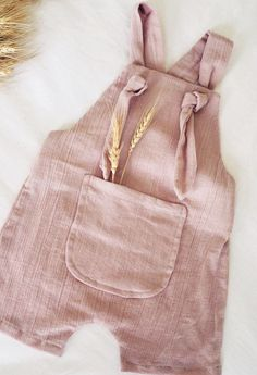 Beautiful Handmade Dusty Pink Muslin Baby Toddler Overalls | SeasonsandSage on Etsy