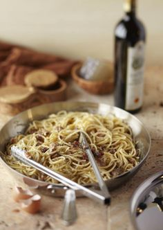 Spaghetti alla Carbonara - truly one of the best pasta dishes of all time. #food #bacon #pasta