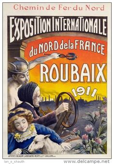 chemins de fer du nord - Exposition internationale du nord de la France - Roubaix - 1911 -