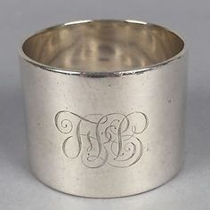 "Antique Martin Hall Sheffield Sterling Napkin Ring 1-5/8""D x 1-5/16"" 63.7g 139 in Antiques, Silver, Sterling Silver (.925), Napkin Rings & Clips 