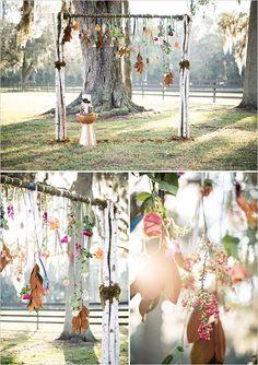 flower wedding arch, boho wedding decorations