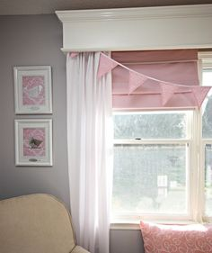 Love this window treatment for my girls' rooms.