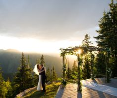 The Wedding Deck at The Little Nell in Aspen, Colorado