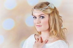 1 2 or 3 pearl strands Swarovski Draping by dazzlejewellery1