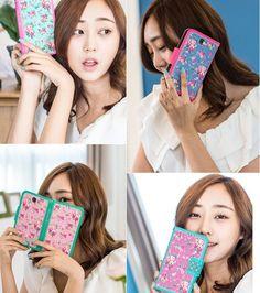 Smoothie Flora Flower Handmade Wallet Case for Galaxy S6 Edge Plus