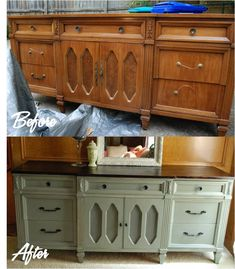 I love dark, stained tops and repainted/distressed bottoms.
