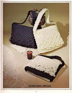 Vintage Macrame Purses Purses Book Patterns for 14 by KingsKountry