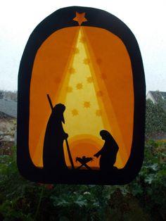 Jahreszeitentisch - Transparentbild Weihnachten - ein Designerstück von Puppenprofi bei DaWanda