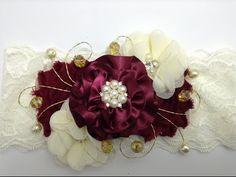 Tiara de media con flor de tela muy fácil y elegante VIDEO No. 184 - YouTube